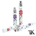 Batterie eGo T Florale - Batterie decoration fleurs