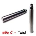 Batterie JoyeTech eGo C Twist Acier - 650 mAh