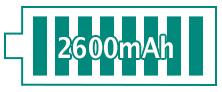 Autonomie de 2600 mAh pour l'iJust 2