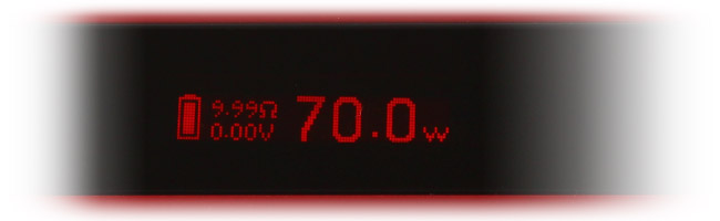 Ecran OLED Kbox70W TC par Kanger