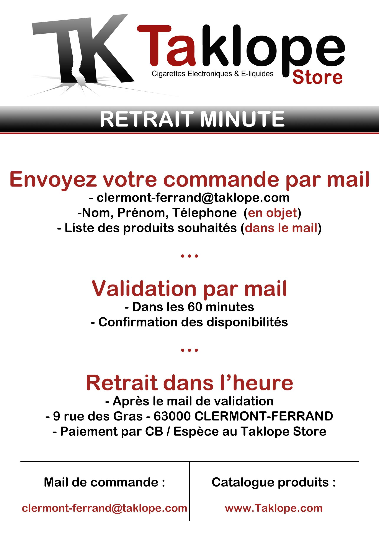 Retrait Minute Taklope Store Clermont-Ferrand