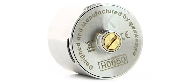 Pin 510 ajustable et plaqué or Dripper Velocity Geek Vape Tsunami 24 RDA