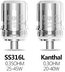 Résistances Kanthal et Inox Cloupor Z5