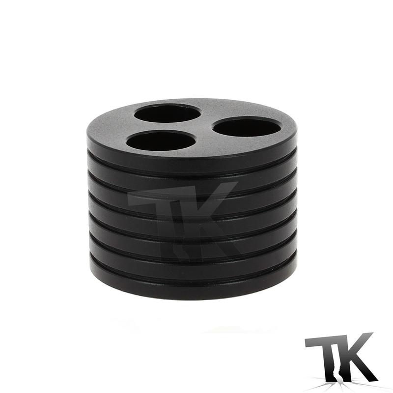 Porte cigarette noir - 3 trous