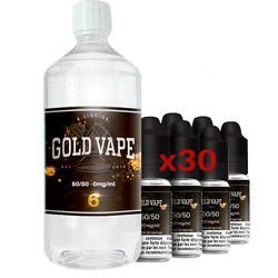 Pack Base Booster 1L 50/50 6 mg - Gold Vape