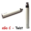 Batterie eGo C Twist Blanc JoyeTech - 650 mAh