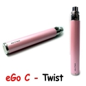 Batterie eGo C Twist Rose Perle - JoyeTech 650 mAh