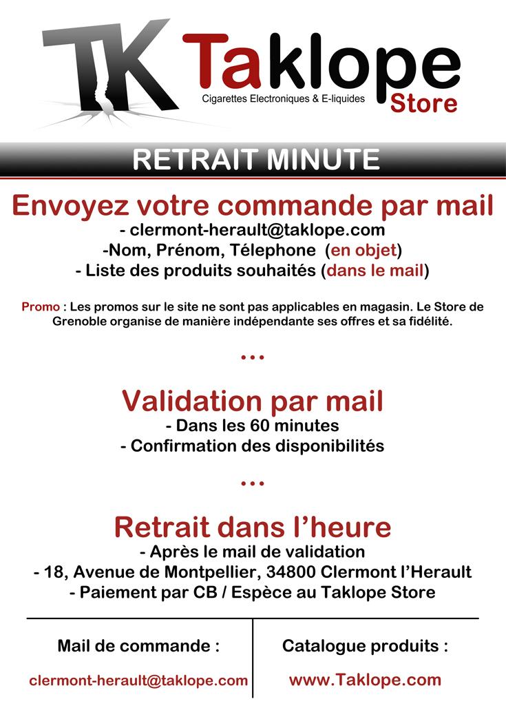Retrait Minute Taklope Store Clermont-l'Herault