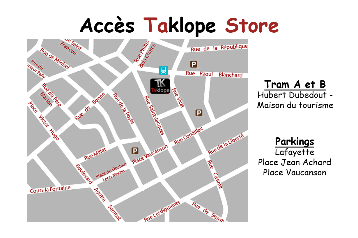plan accès taklope store grenoble