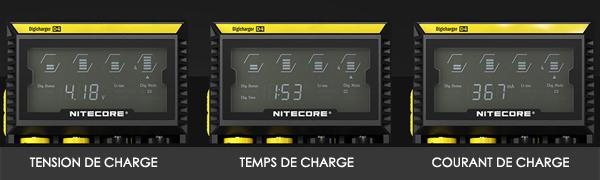 type de charge nitecore D4